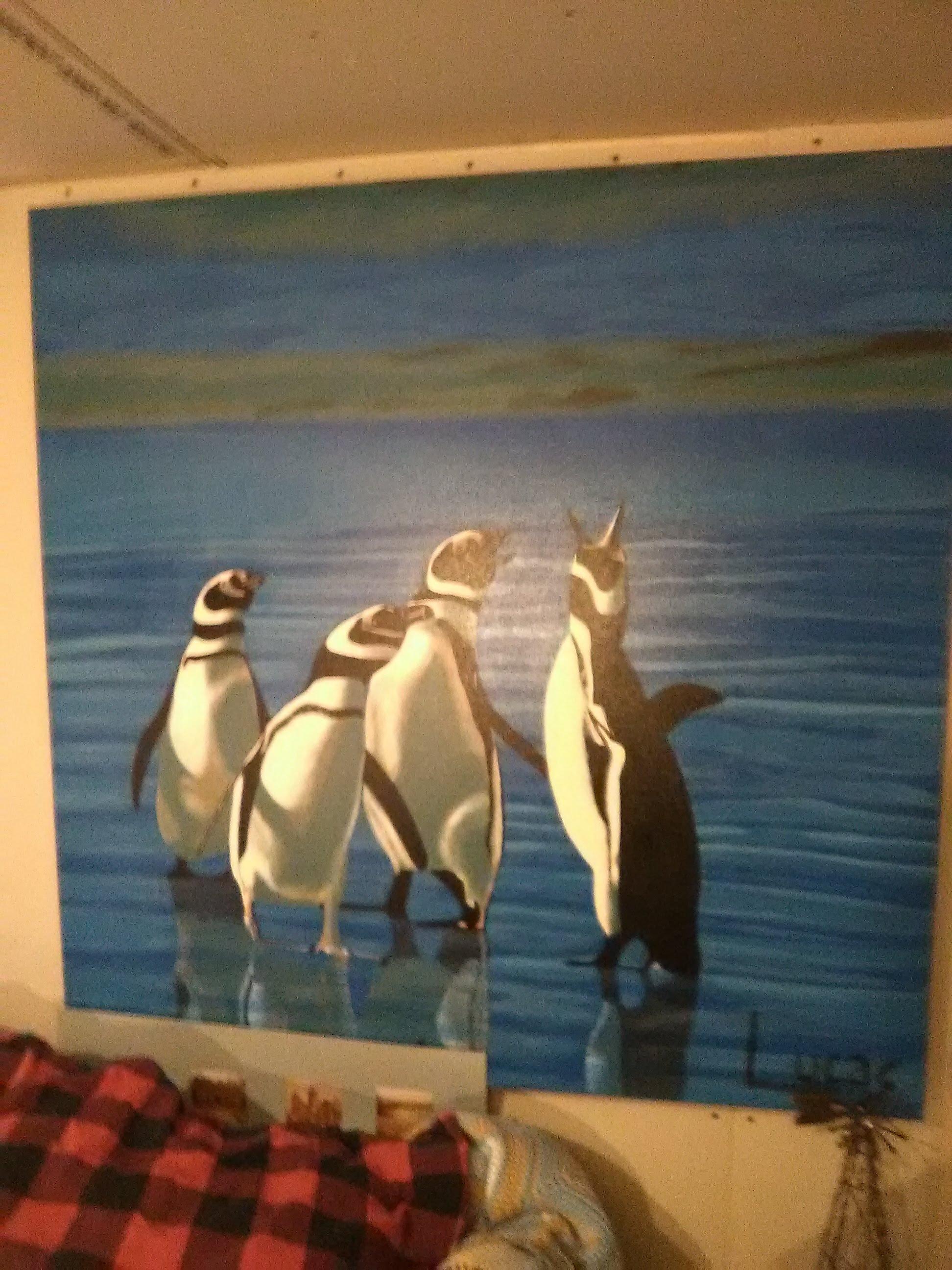 penguins frollicking